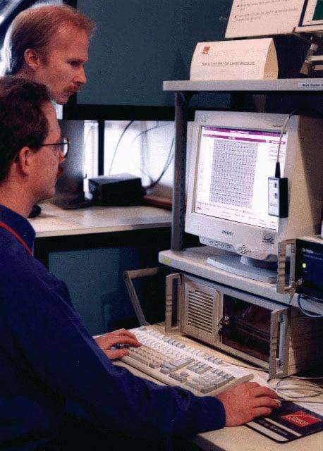 Laser vibrometer computer