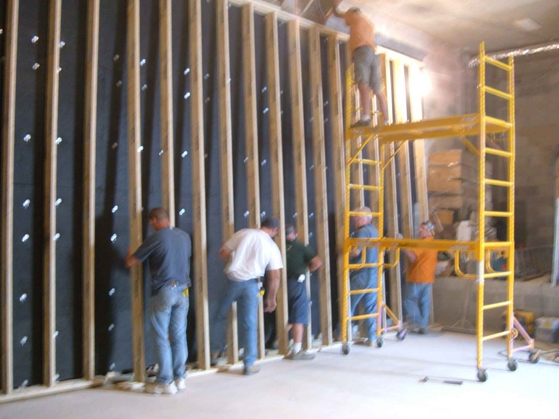 Acoustic Wall Framing installation, Bermuda