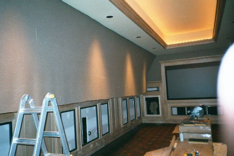 Hanging fabric over panels