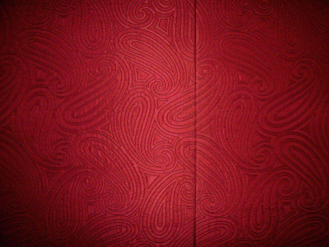 Close up FRP fabric seam meeting