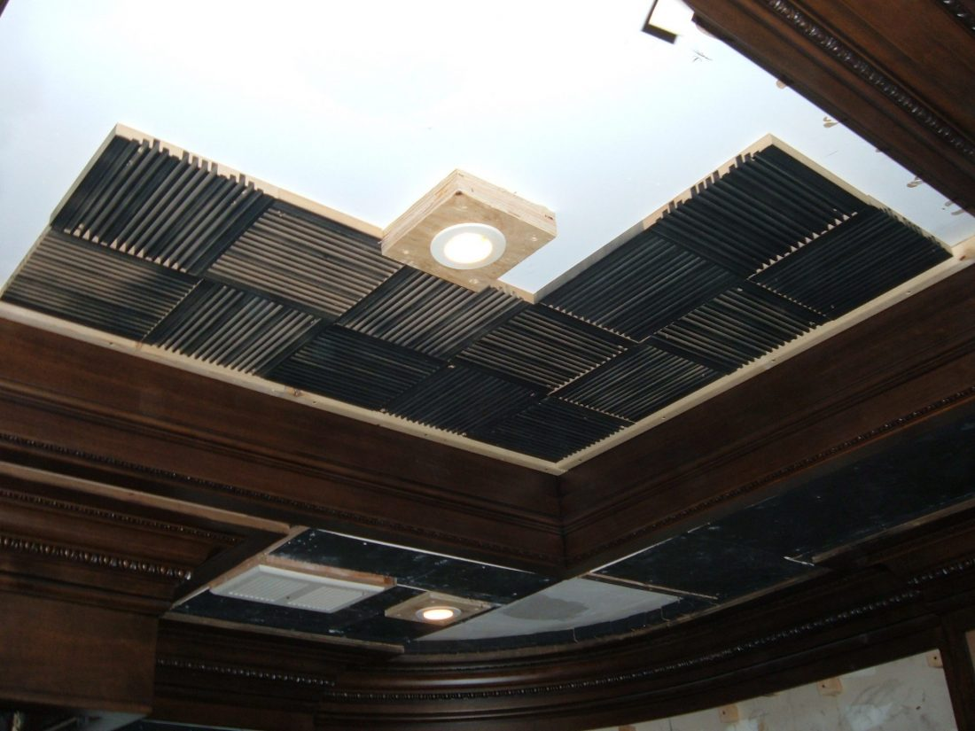 Ceiling high frequency QRD diffusers