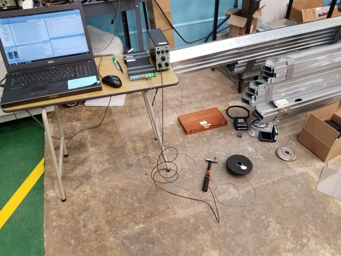 Vibration transmissibility tests for EVP