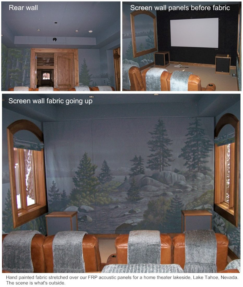 Custom painted FRP fabric, Tahoe