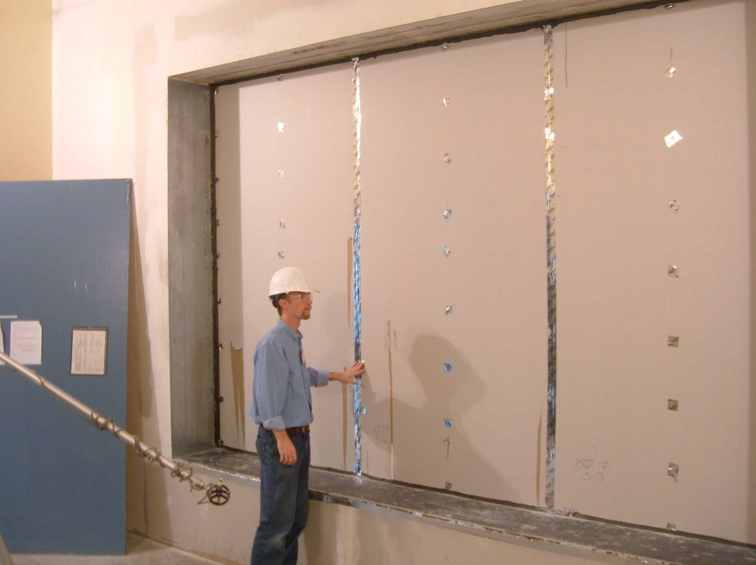RoomDamp 2 ASTM E-90 Wall testing