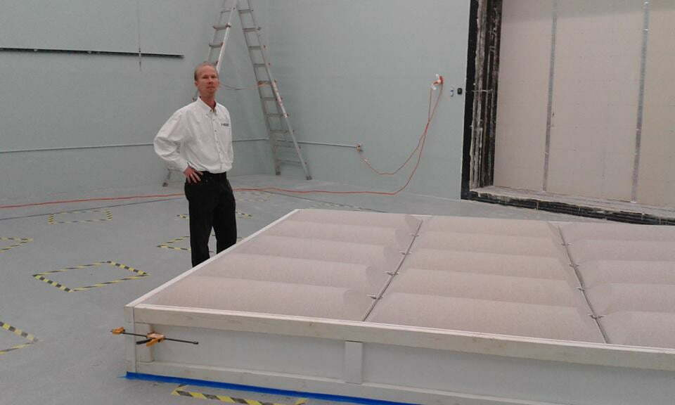 Absorption testing of diffusers at NWAA
