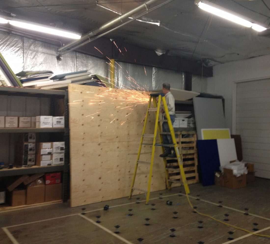 Preparing impact floor test rig prototype