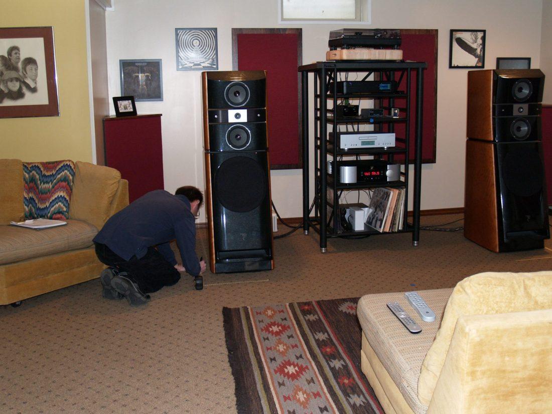 Focal speaker positioning